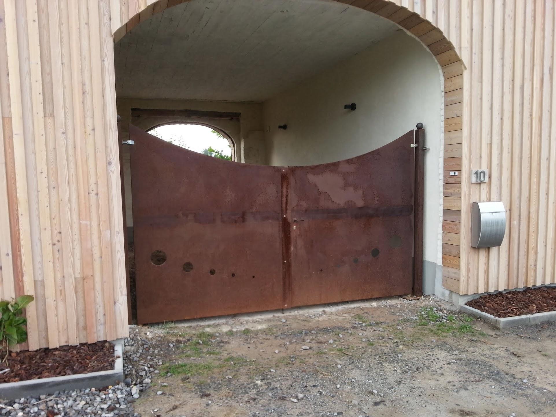 portail acier corten