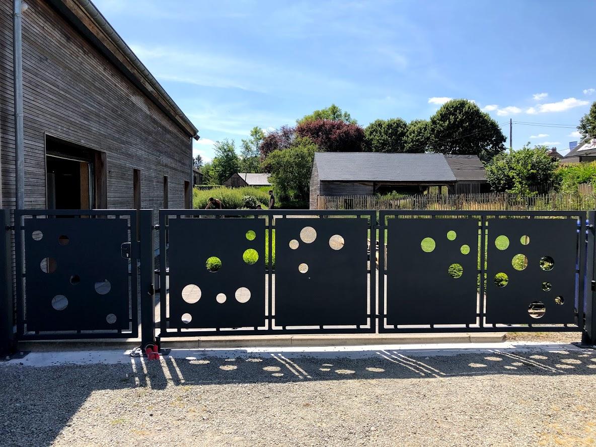 portail contemporains décor bulles